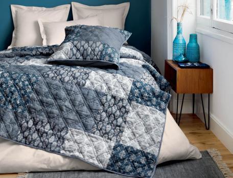 Boutis patchwork Infiniment bleu