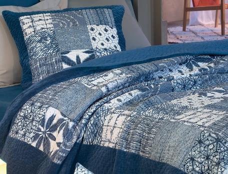 Boutis patchwork Les bleus de Nîmes