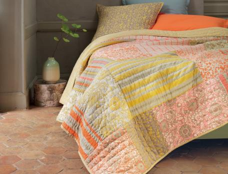 Boutis patchwork 100% coton parfum d'agrumes