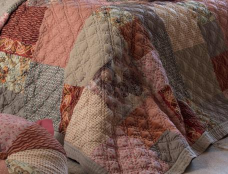 Boutis patchwork 100% coton Terres d'ocres