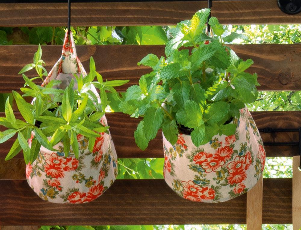 2 cache-pots imprimés fleuris Cuisine en fleurs