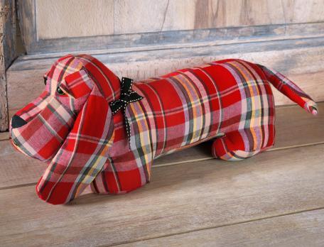 Cale-porte en forme de chien Esprit de Noël