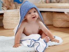 Cape de bain + gant bébé Étoile de mer