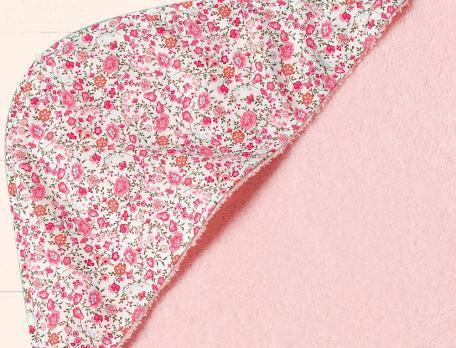 Cape de bain fleurie et gant Rondes des fleurs