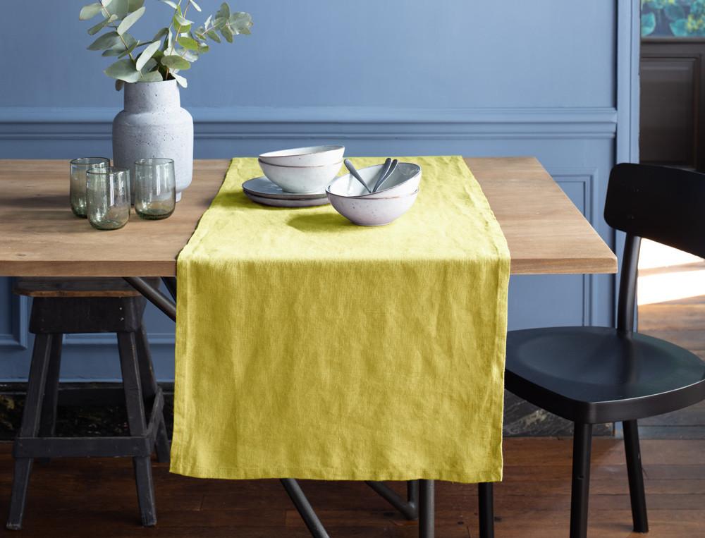 Chemin de table 4 couleurs au choix Lin lavé