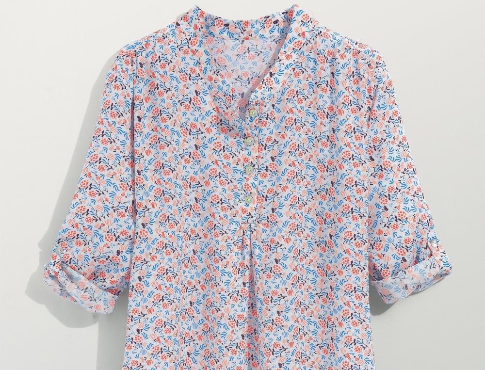 Chemise de nuit imprimée floral Clémentines
