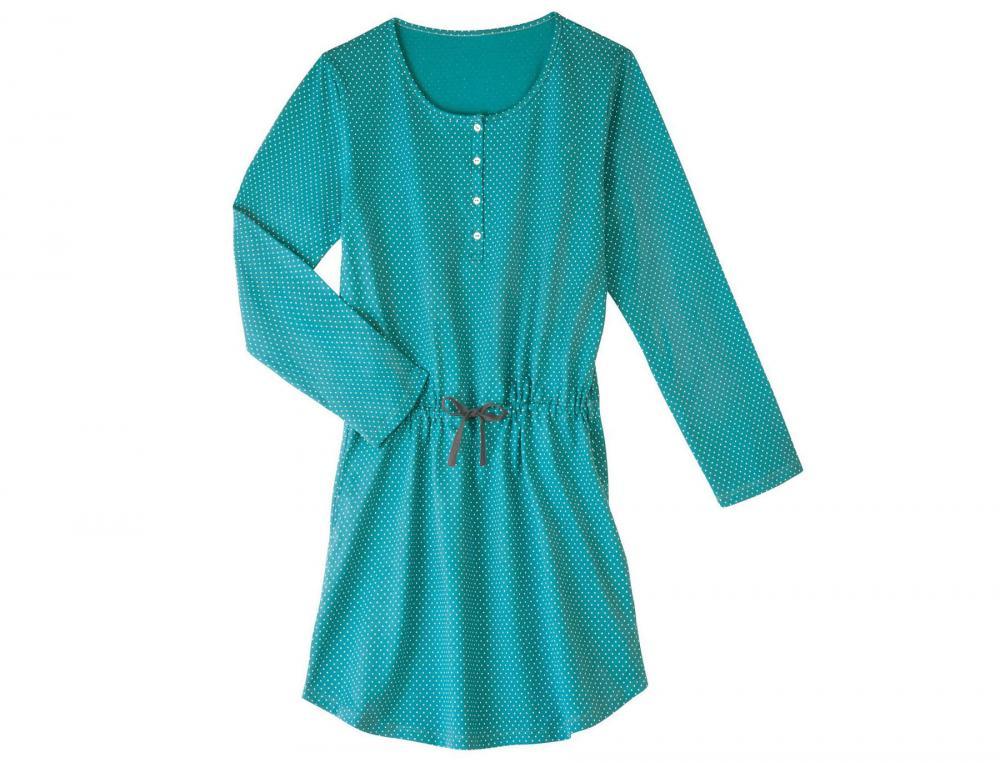 Chemise de nuit en jersey Perles d'émeraude