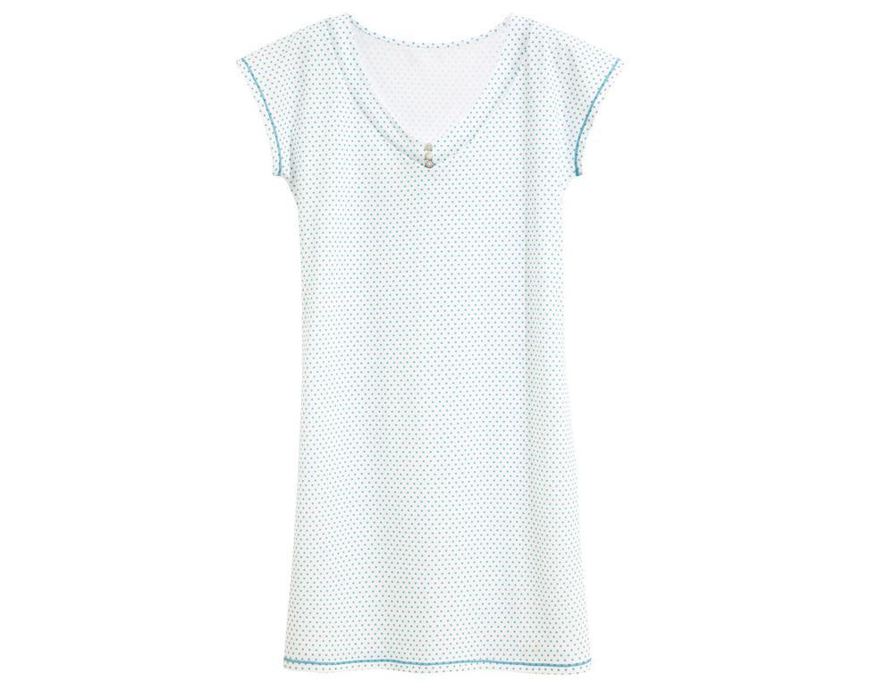 Chemise de nuit jersey Plumetis
