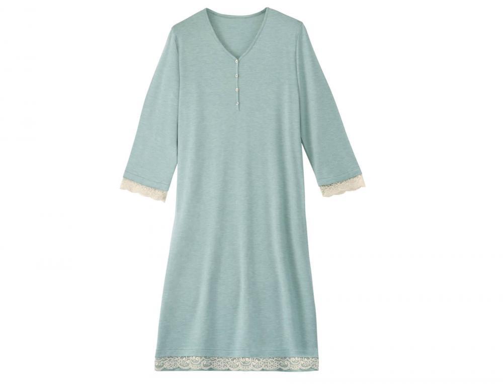 Chemise de nuit turquoise chiné Secret d'orient
