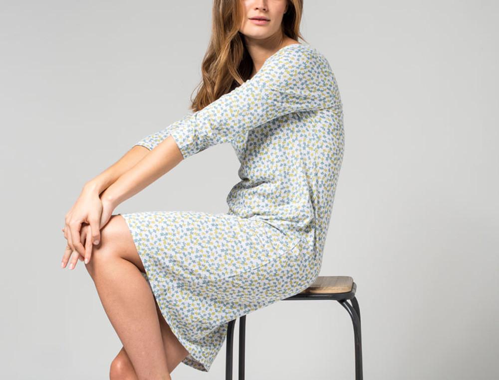 Chemise de nuit jersey imprimé en coton et modal Tourmaline