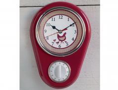 Horloge minuteur Comme à la ferme motif poule