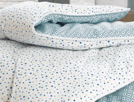 Couette confort imprimée et réversible hiver 400g/m2