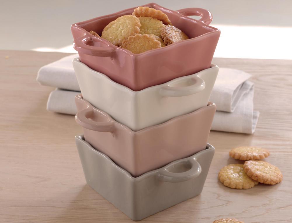 4 coupelles en céramique Pastel