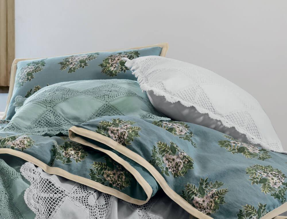 Coussin crochet 100% coton avec patch tissuNuage blanc