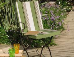 Coussin pour fauteuil de jardin tissé-teint À l'ombre des canisses