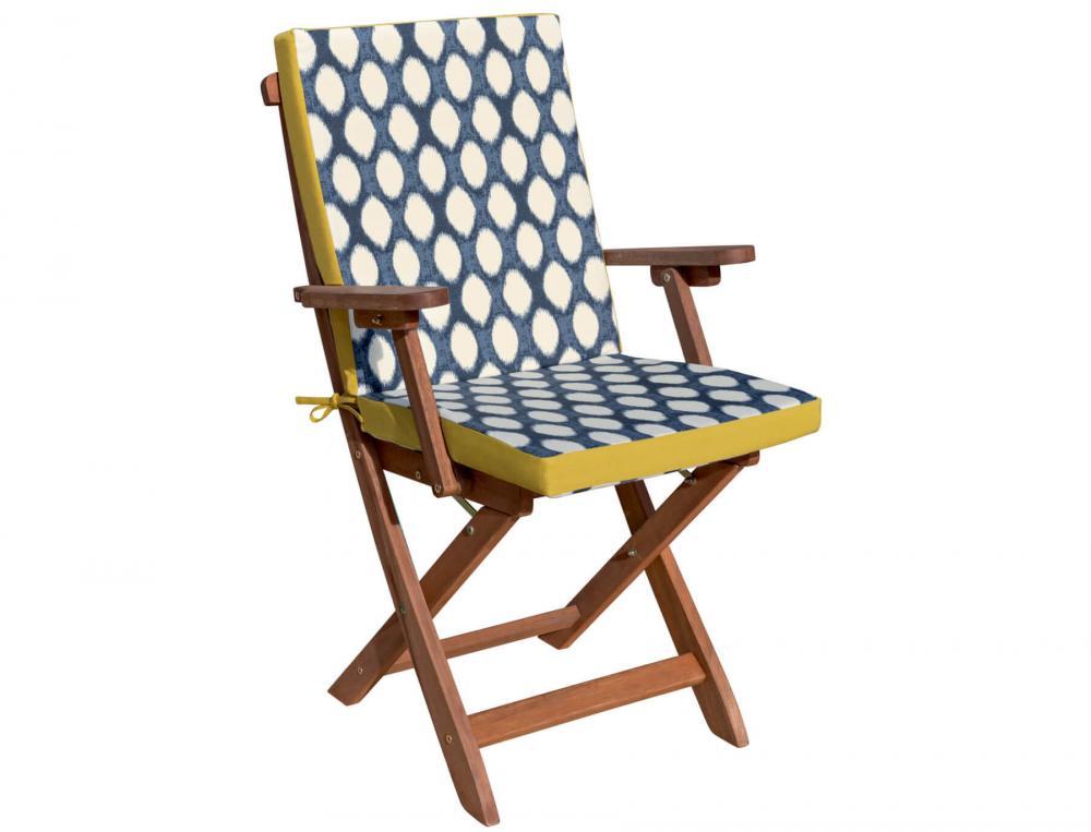 Coussin de fauteuil ou de chaise imprimé Les galets de Collioure