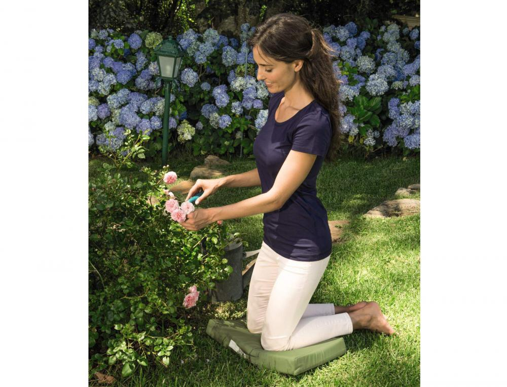Coussin de jardinage 100% coton enduit À l'ombre des canisses