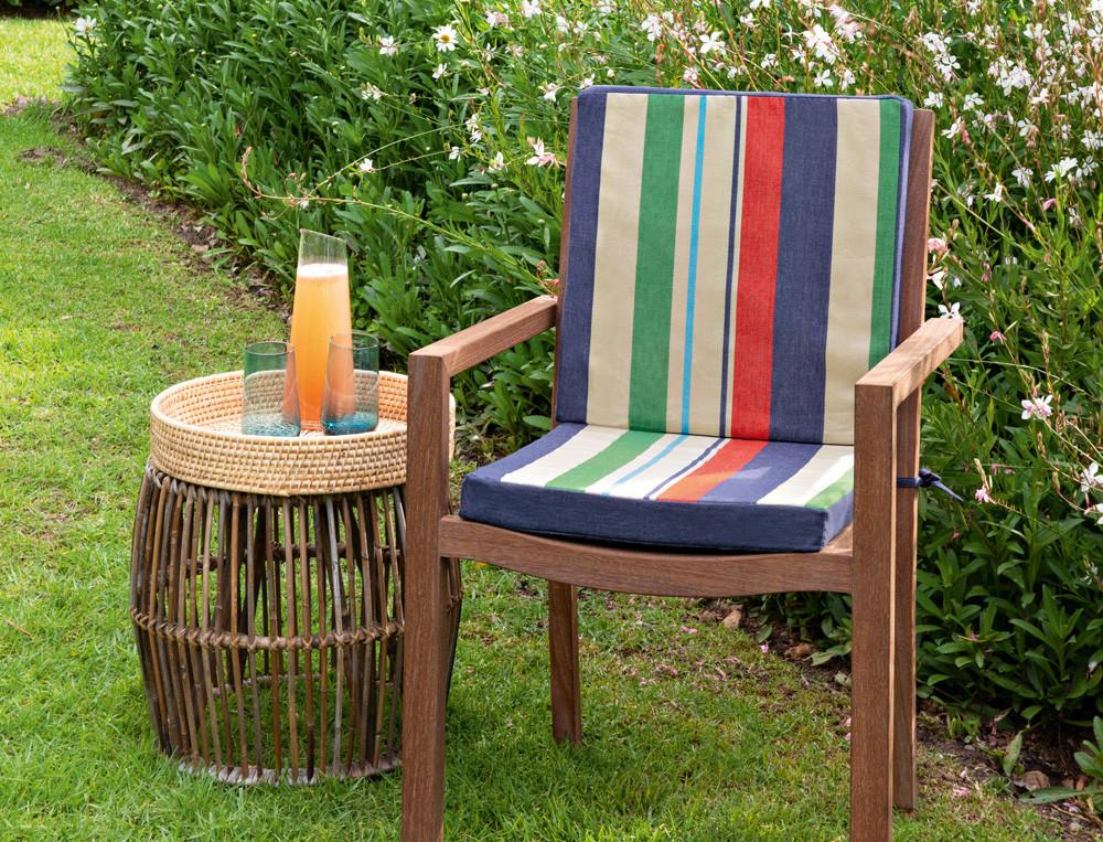 Coussin pour fauteuil ou chaise de jardin mousse haute densité