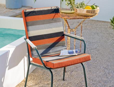 Coussin pour fauteuil ou chaise de jardin Roussillon