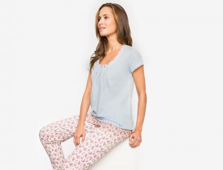 Pyjama jersey bleu ciel Covent garden