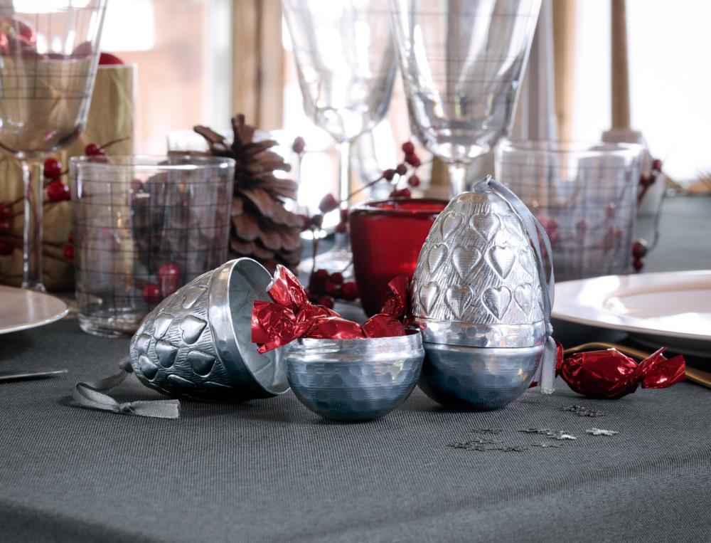 2 surprises de table en aluminium Table de fête