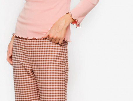 Damen Schlafanzug Jersey Flanell