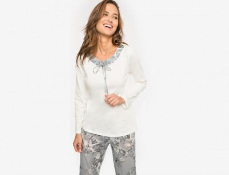 Damenpyjama Persischer Traum Linvosges Jersey Baumwolle
