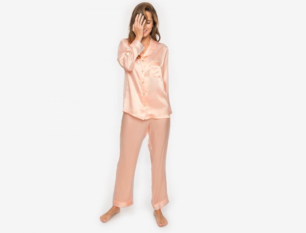 Schlafanzug Damen Seide