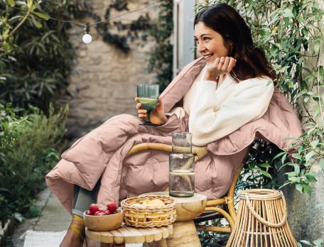 Decke Blaugrün Eukalyptusgrün Reiselust