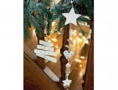 2 décorations à suspendre en bois Noël à Londres