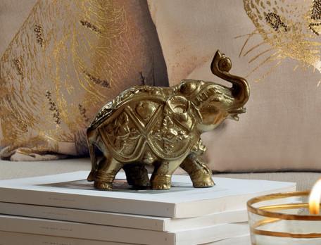 Deko Elefant Goldene Safari Linvosges