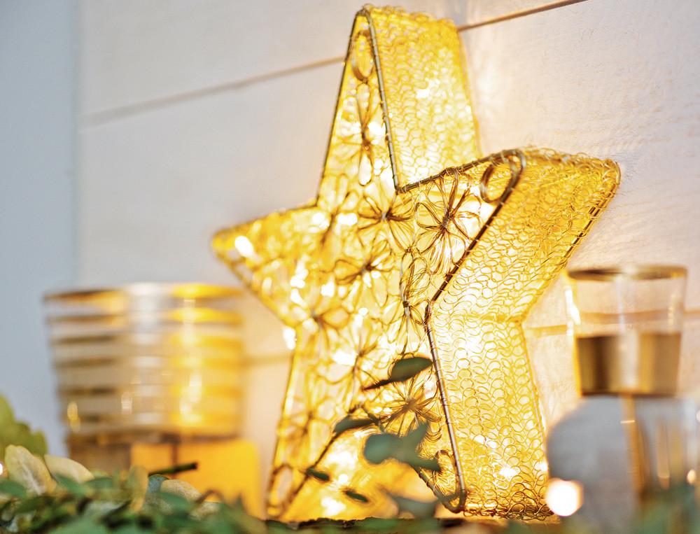 Deko-Stern Weihnachtsmarkt Linvosges