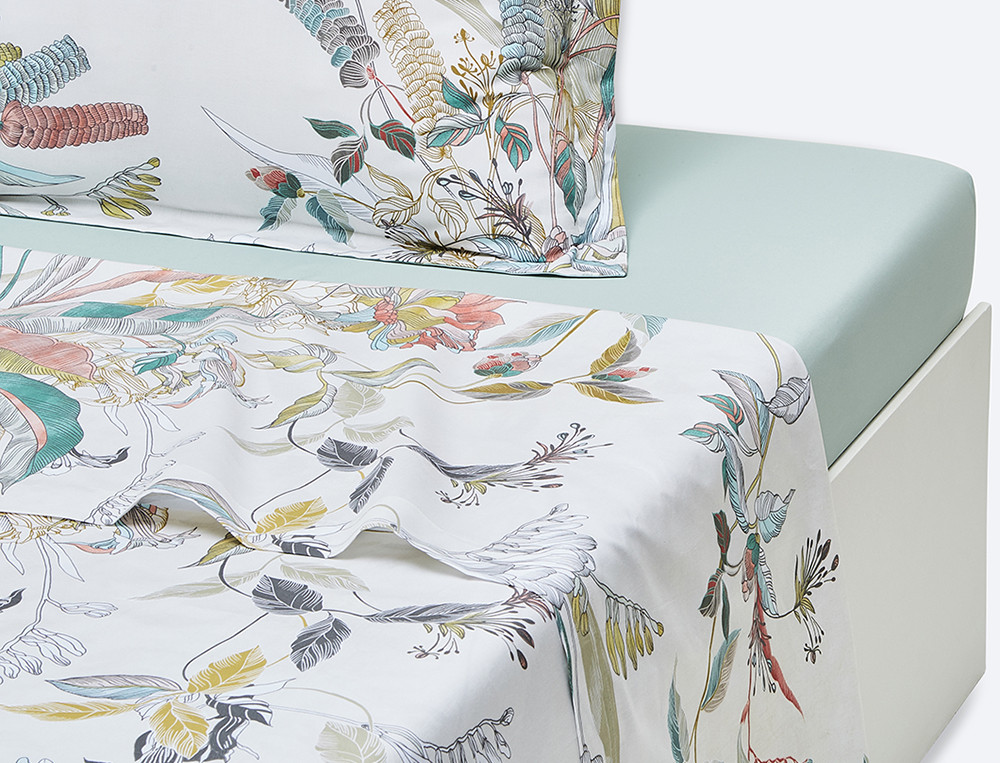 Drap percale imprimé Bouquet d'émotions