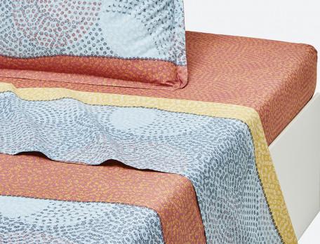 Drap percale imprimé multicolore Couleurs Sahara