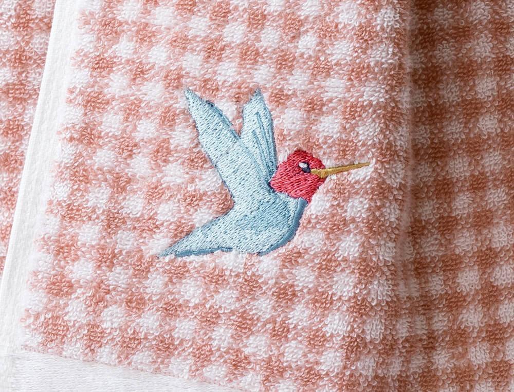 Drap de bain jacquard Joli colibri
