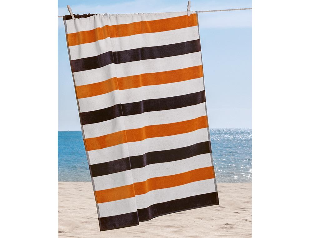 Drap de plage larges rayures Grande anse