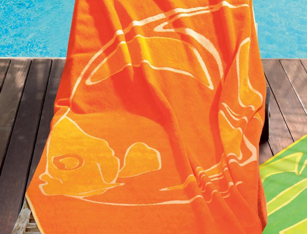 Drap de plage tissage jacquard Sur la durance