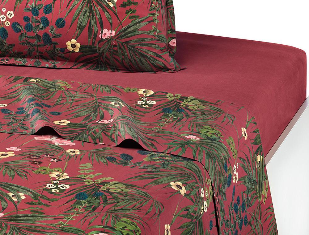 Drap percale coton imprimé végétal Éloge floral
