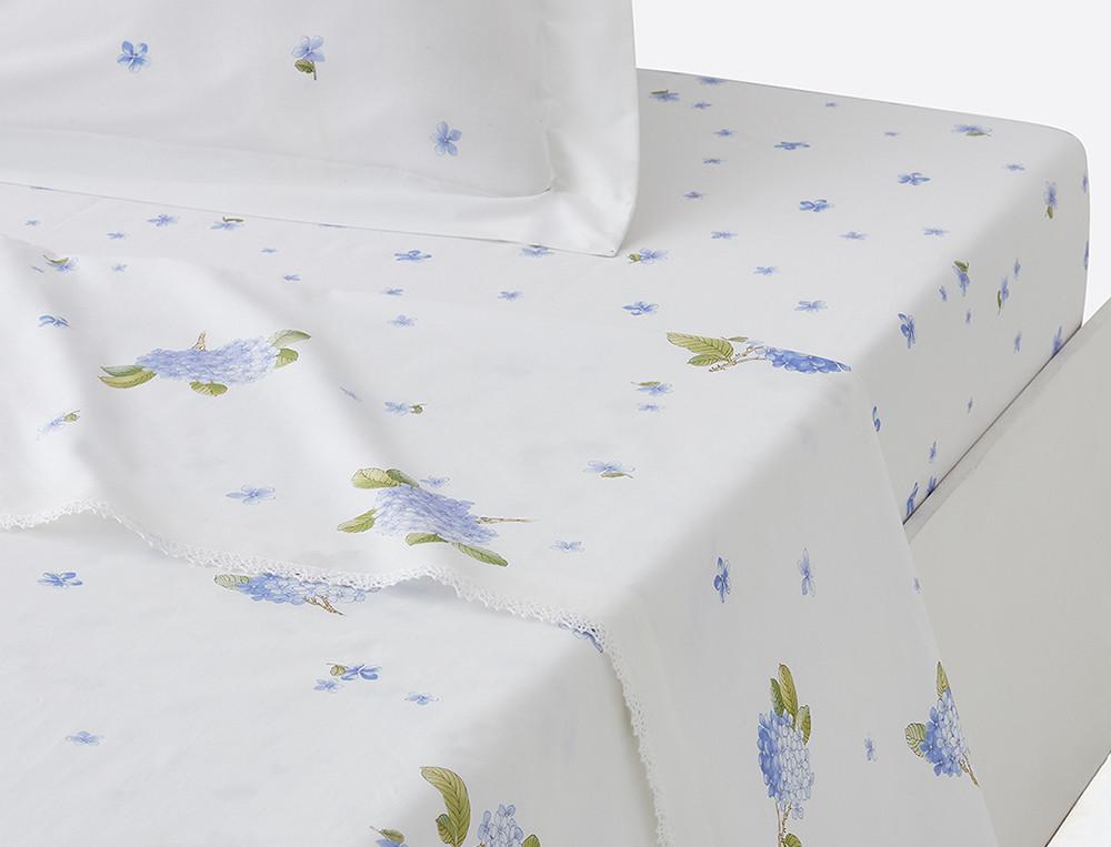 Drap percale imprimé grands motifss fleuri Ginza