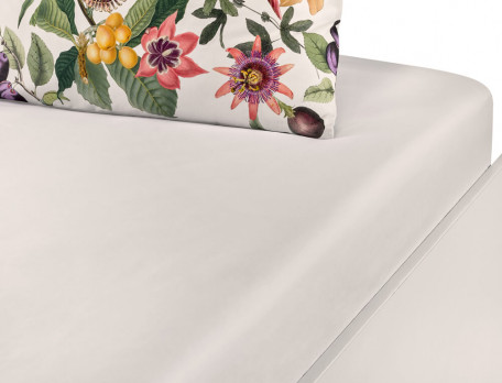 Drap housse percale uni blanc naturel bonnet 35 cm À la folie