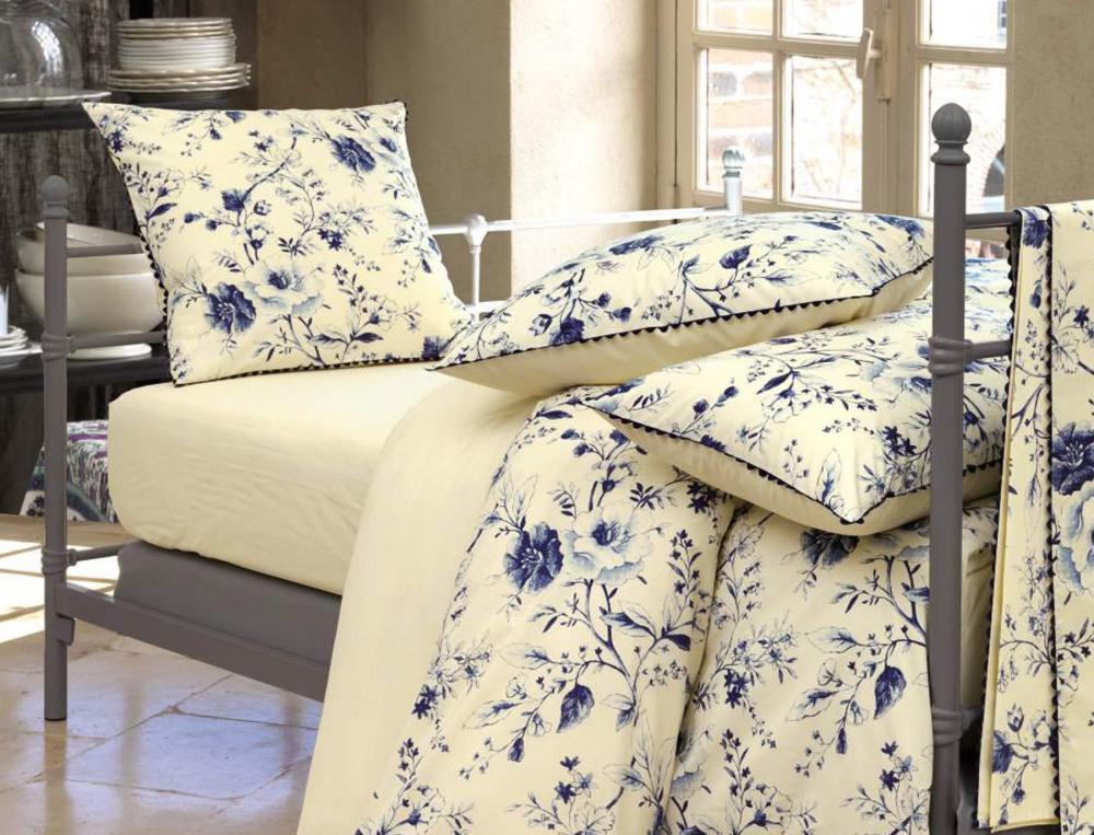 Drap-housse uni ivoire Bleu Tiffany bonnet 30 cm