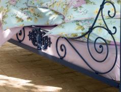 Drap-housse imprimé rayé Camellia bonnet 30 cm