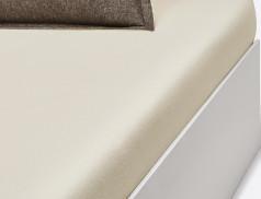Drap-housse uni ivoire Chalet bonnet 30 cm
