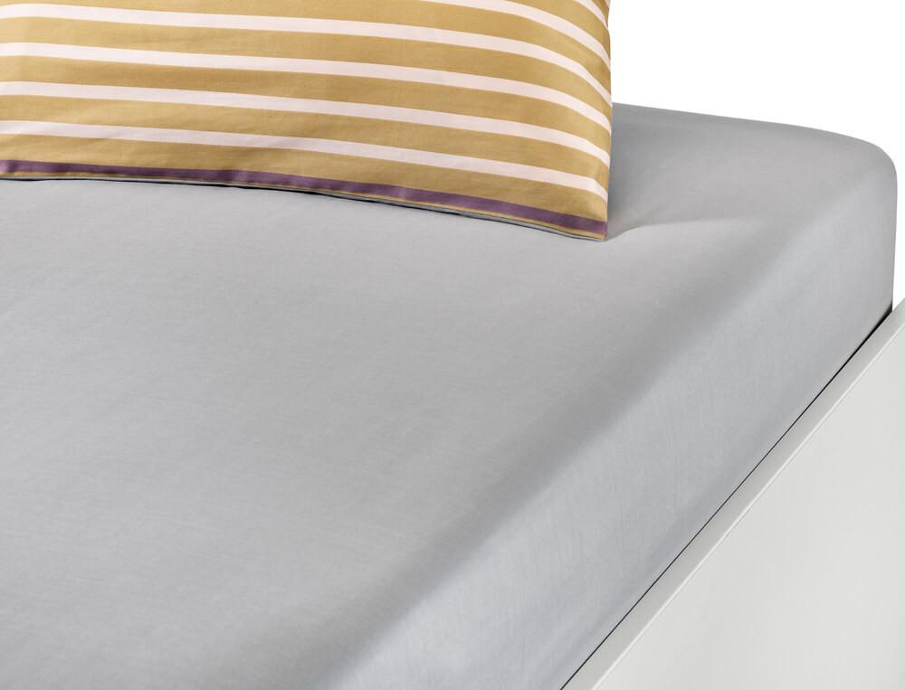 Drap housse satin gris perle bonnet 35 cm Couleurs Boréales