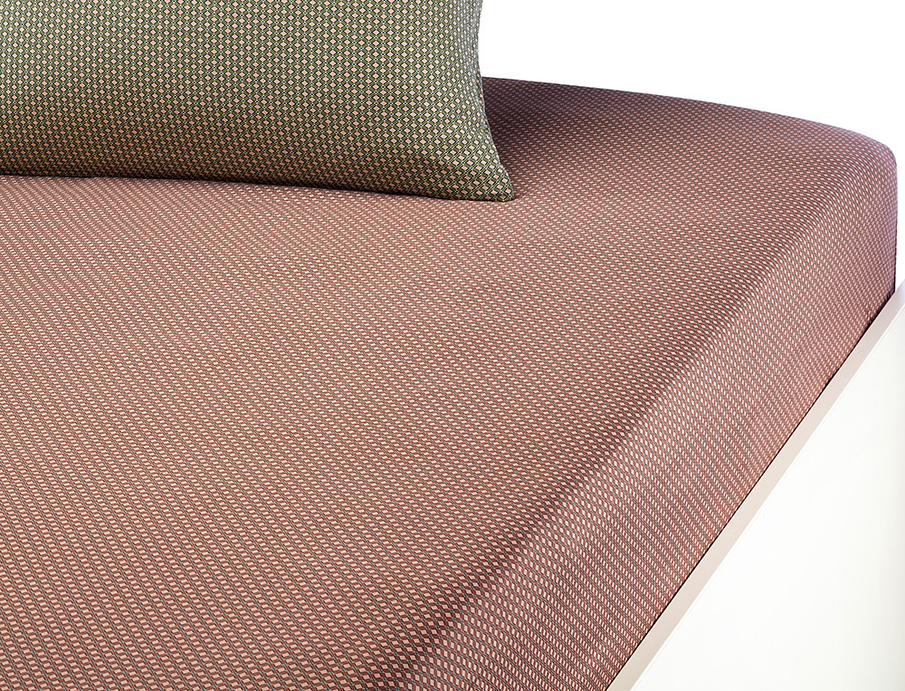 Drap-housse satin 100% coton imprimé Cravate