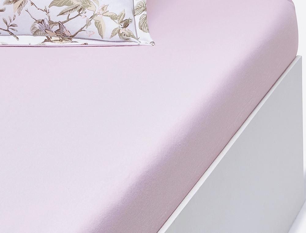 Drap housse flanelle rose ancien bonnet 35 cm Gâtinais