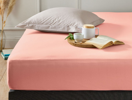 Drap-housse Jersey extensible couleur pur coton peigné