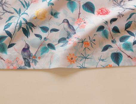 Drap-housse L'île aux colibris bonnet 30 cm
