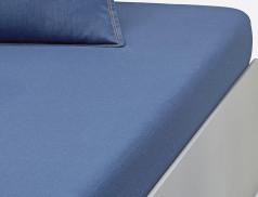Drap-housse uni denim Les Bleus de Nîmes bonnet 30 cm