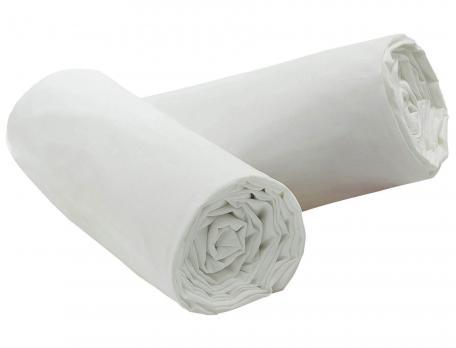 Pack 2 draps-housse bonnet 35 cm coloris blanc
